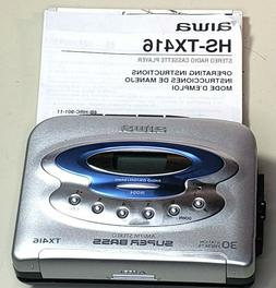 AIWA HS-TX416 AM/FM Stereo Radio Cassette Player - Works