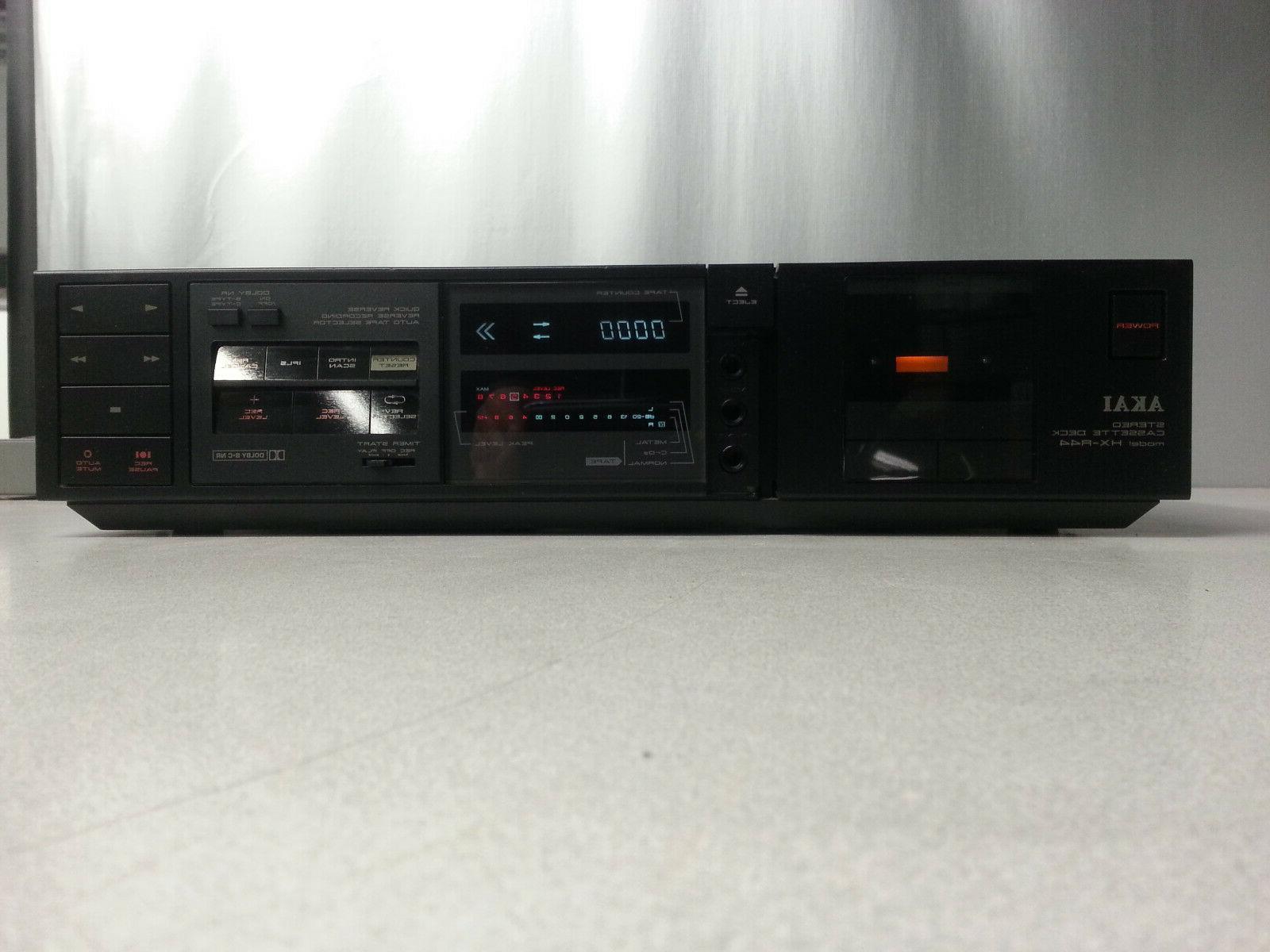 hx r44 stereo cassette deck
