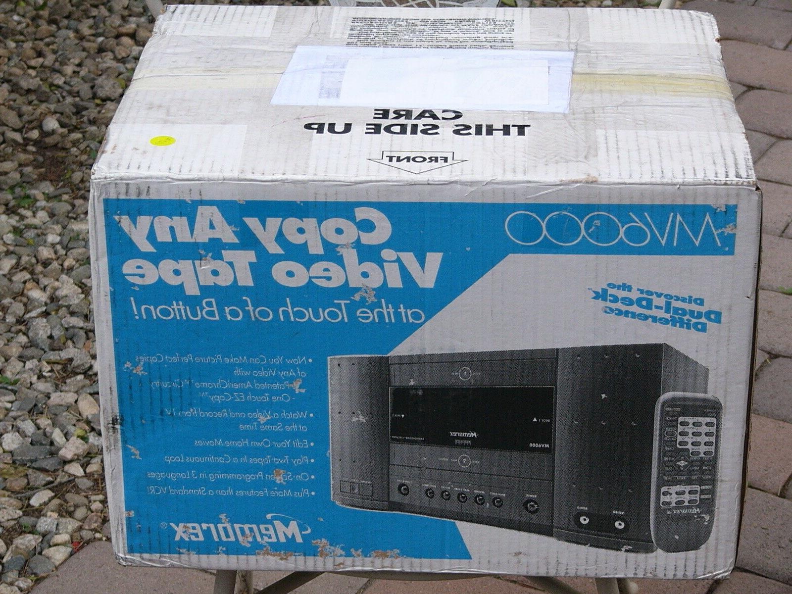 new mv6000 vcr dual deck vhs player