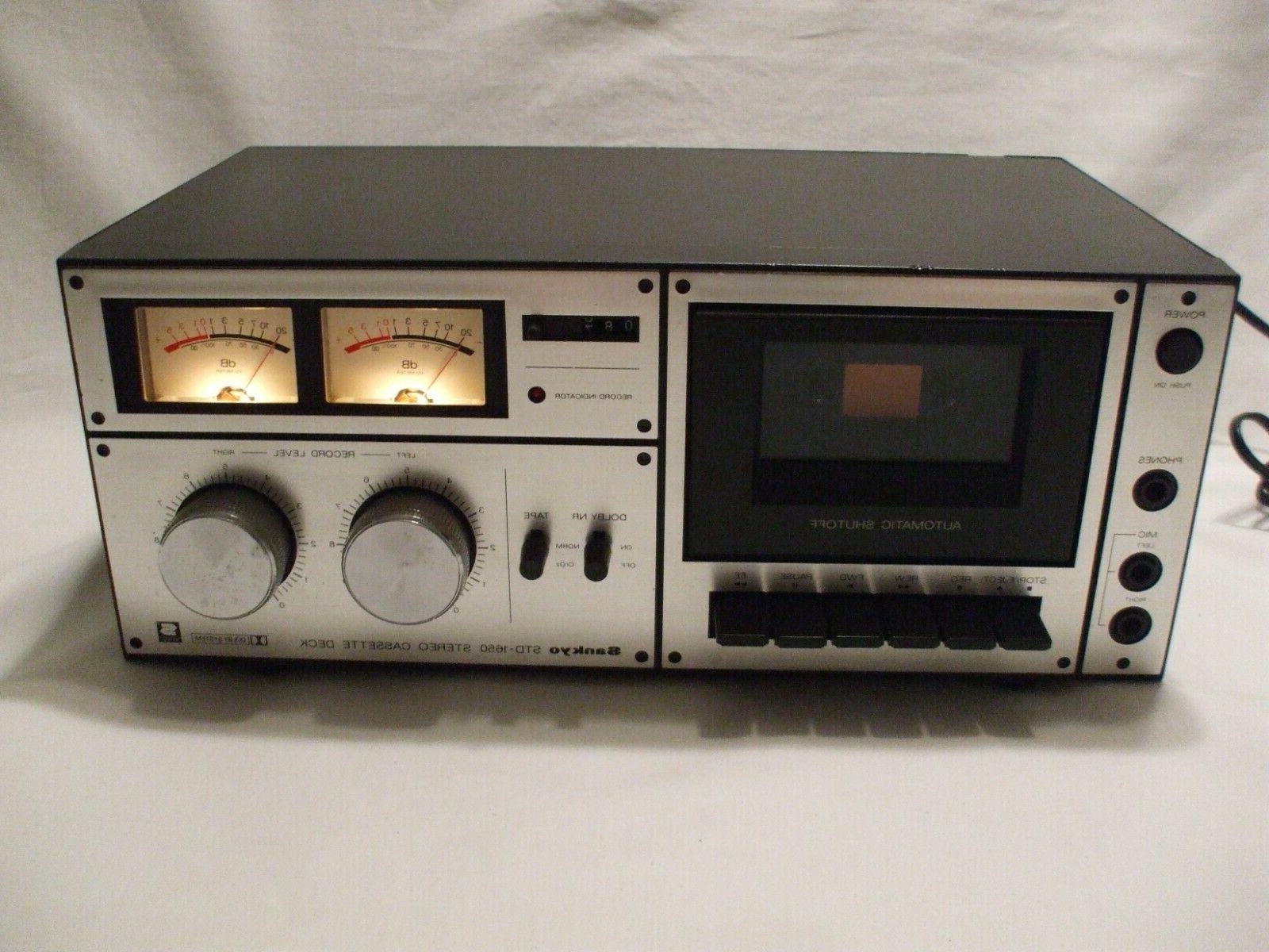 SANKYO Stereo Deck Vintage 1980's repair