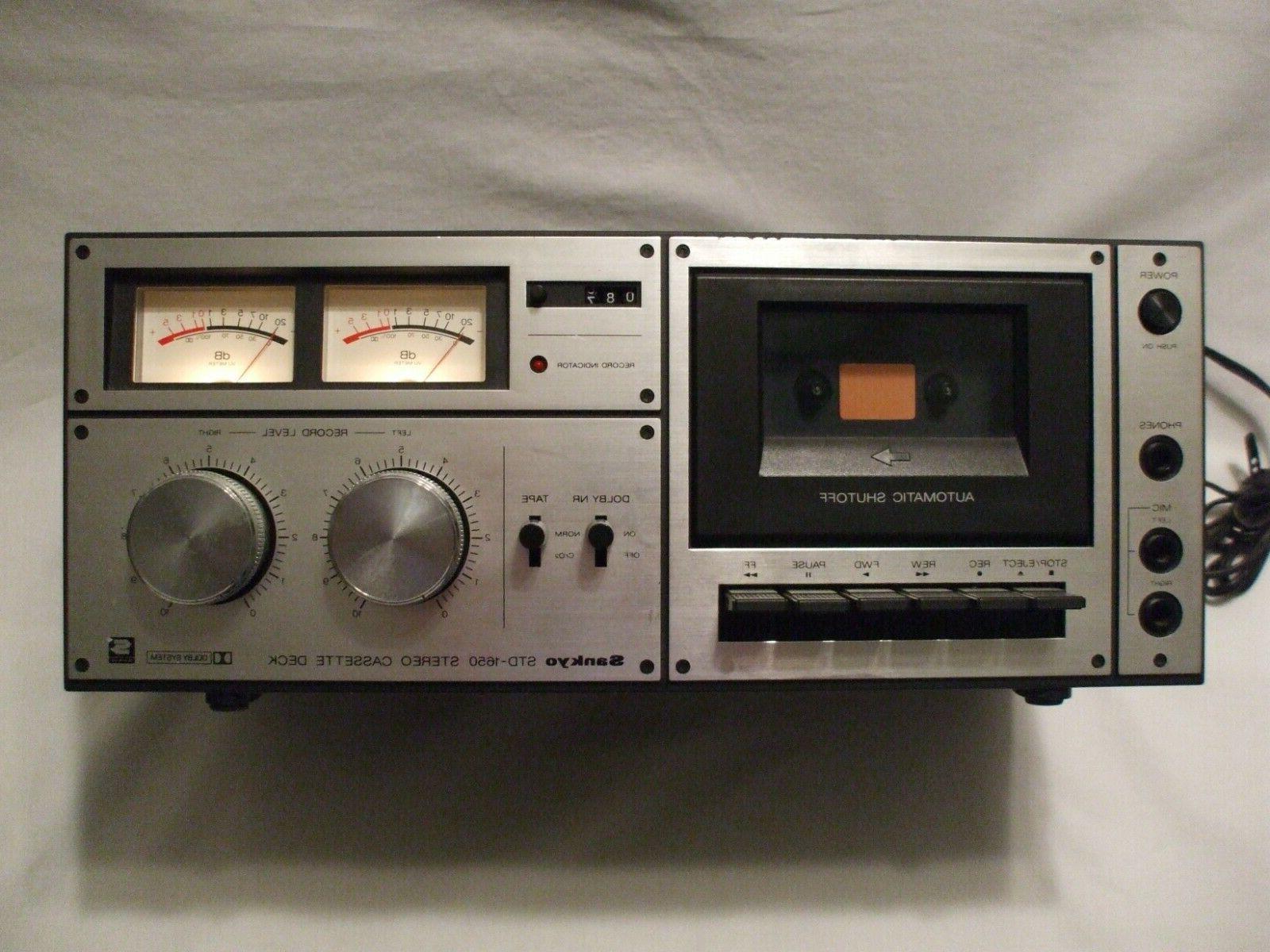 std 1650 stereo cassette deck vintage 1980