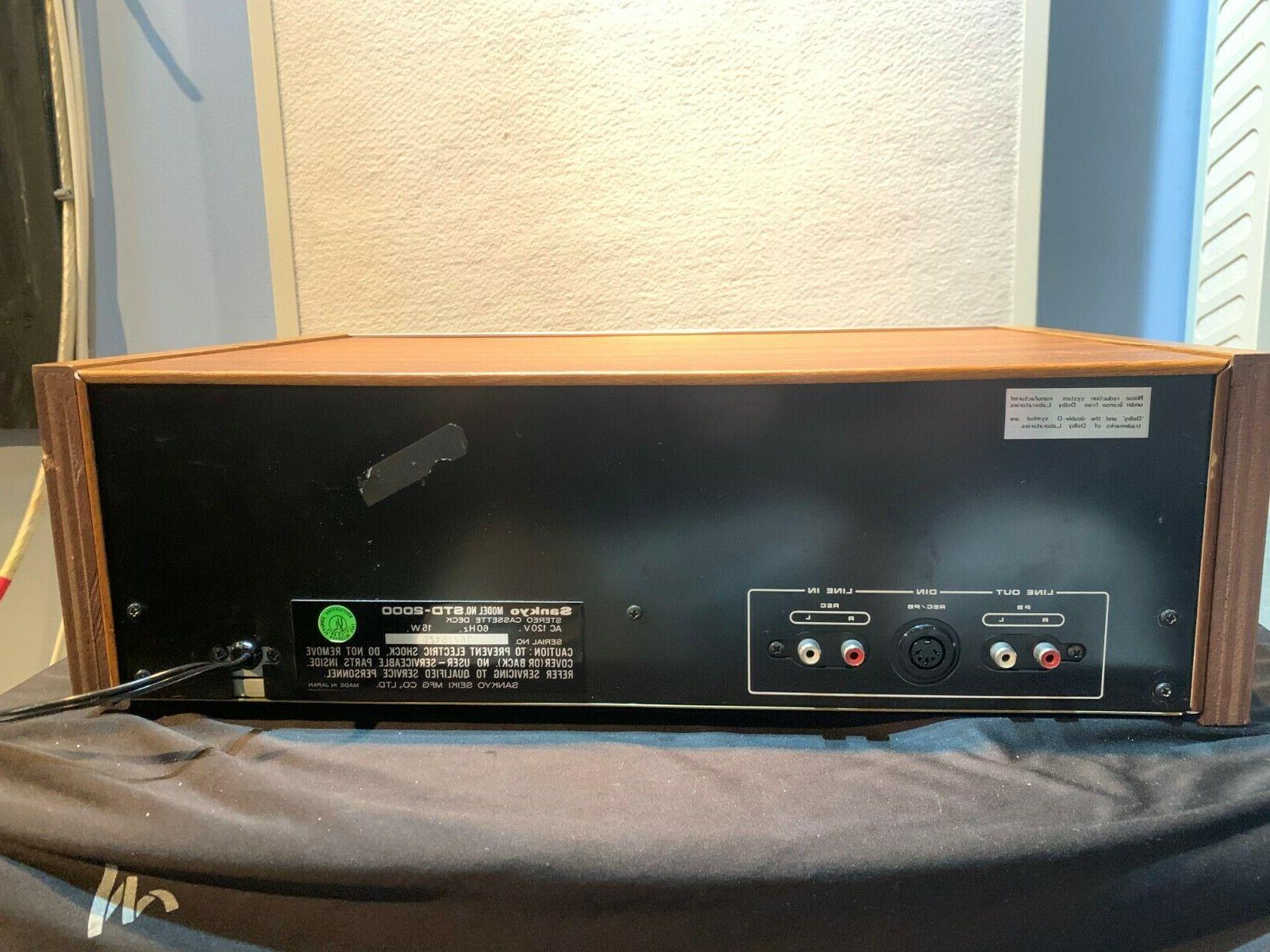Sankyo STD-2000 Cassette Deck - Is