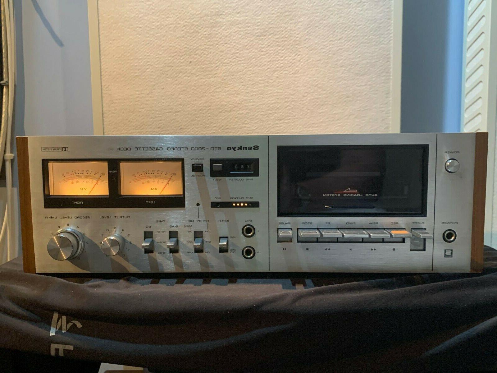 std 2000 cassette deck as is