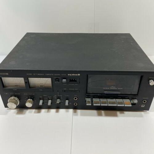 vintage std 2000 stereo cassette deck dolby