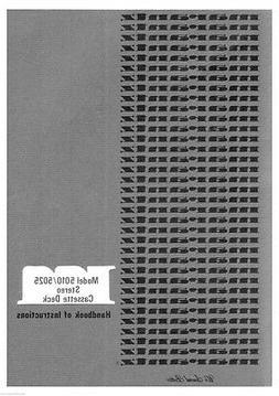 Marantz 5010 Cassette Deck Owners Manual