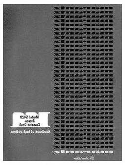 Marantz 5420 Cassette Deck Owners Manual