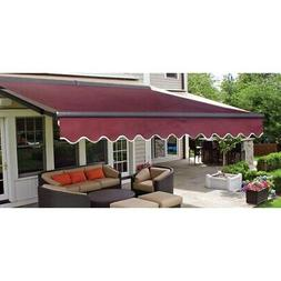 ALEKO Sunshade Half Cassette Retractable Patio Deck Awning 1