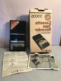 VINTAGE 1980's-90's GE CASSETTE TAPE RECORDER 3-5005C BR