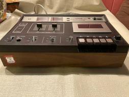 vintage std 1410 stereo cassette deck table