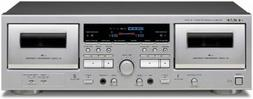 w 1200 double cassette deck player silver