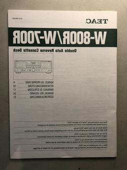 TEAC W-800R W-700R Double Auto Reverse Cassette Deck owners